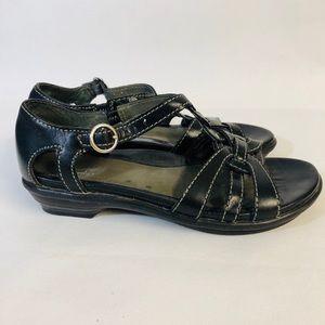 Dansko black Strap Sandals size 36 leather